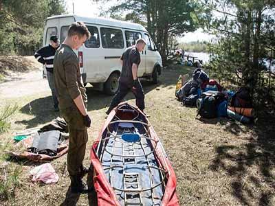 Перевозка байдарочников в Москве